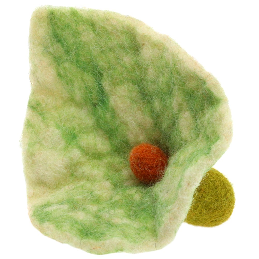 Filzblüte/12cm | 01-Grün