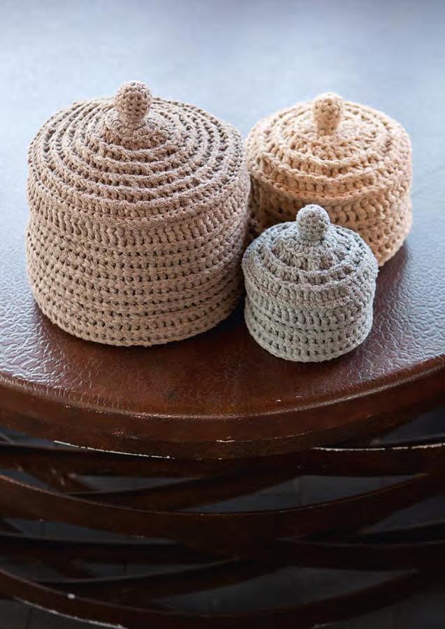 grosse dose mit deckel paradiso filati handstrick no 47 home modell 18 1 von lana grossa. Black Bedroom Furniture Sets. Home Design Ideas