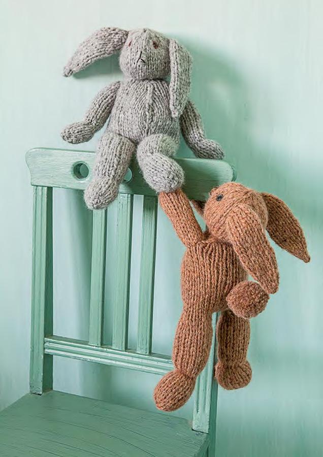 gestrickte hasen garzato baby filati handstrick no 54 home modell 26 von lana grossa. Black Bedroom Furniture Sets. Home Design Ideas