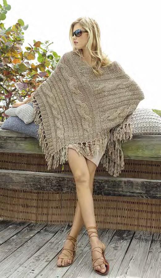 poncho paradiso filati handstrick no 48 modell 53 von lana grossa filati lana grossa. Black Bedroom Furniture Sets. Home Design Ideas