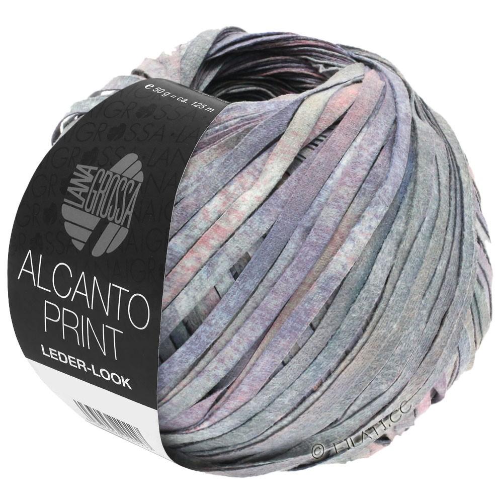 ALCANTO Print - von Lana Grossa | 104-Grau/Flieder/Rosa