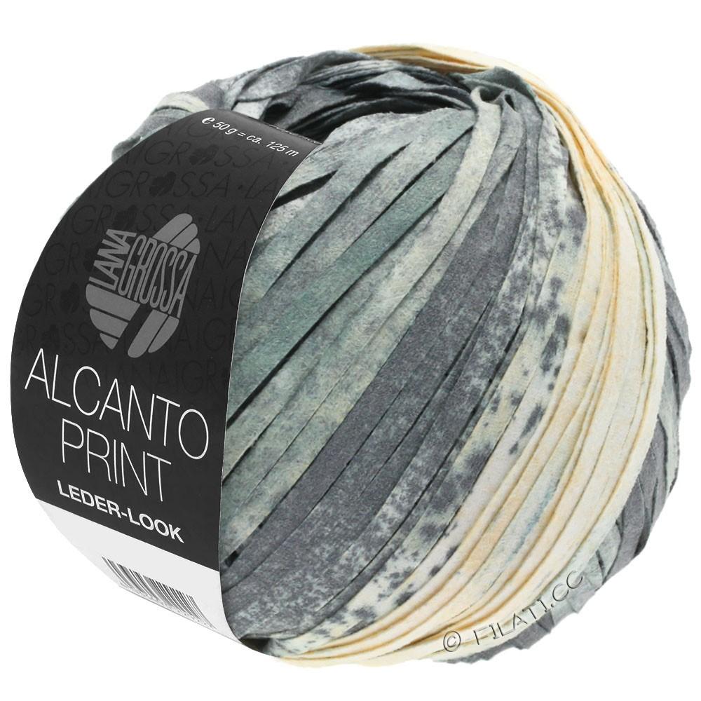 ALCANTO Print - von Lana Grossa | 203-Grau/Weiß