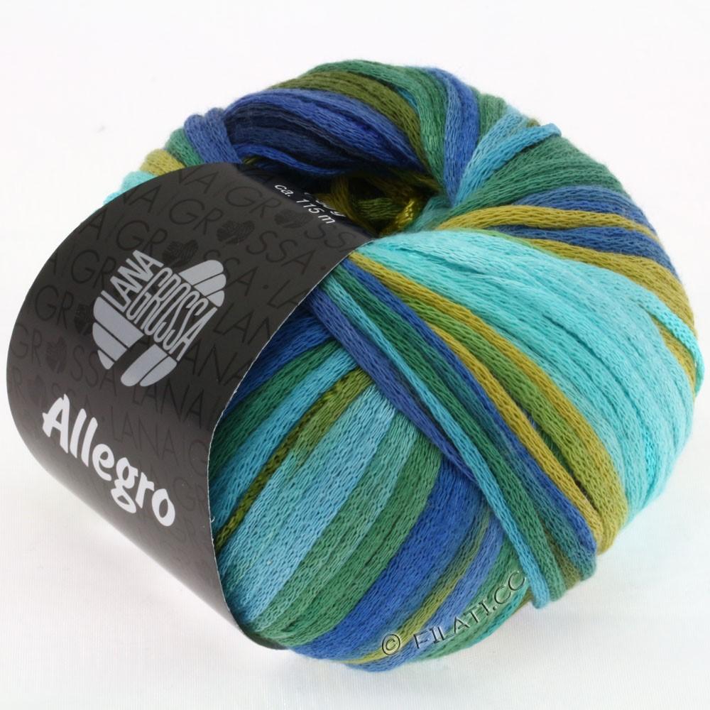 ALLEGRO - von Lana Grossa | 002-Jeans/Mint/Oliv/Türkis