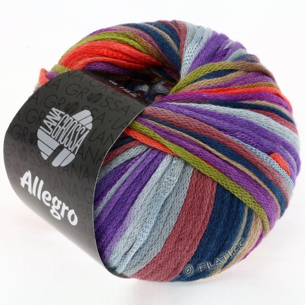 ALLEGRO - von Lana Grossa   004-Oliv/Beere/Koralle/Violett/Camel