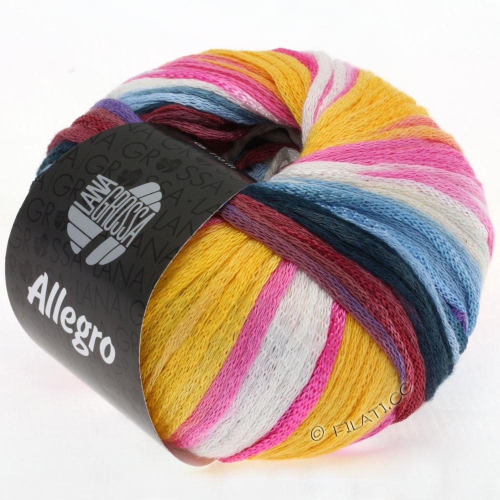 ALLEGRO - von Lana Grossa | 006-Gelb/Natur/Lila/Pink/Beere