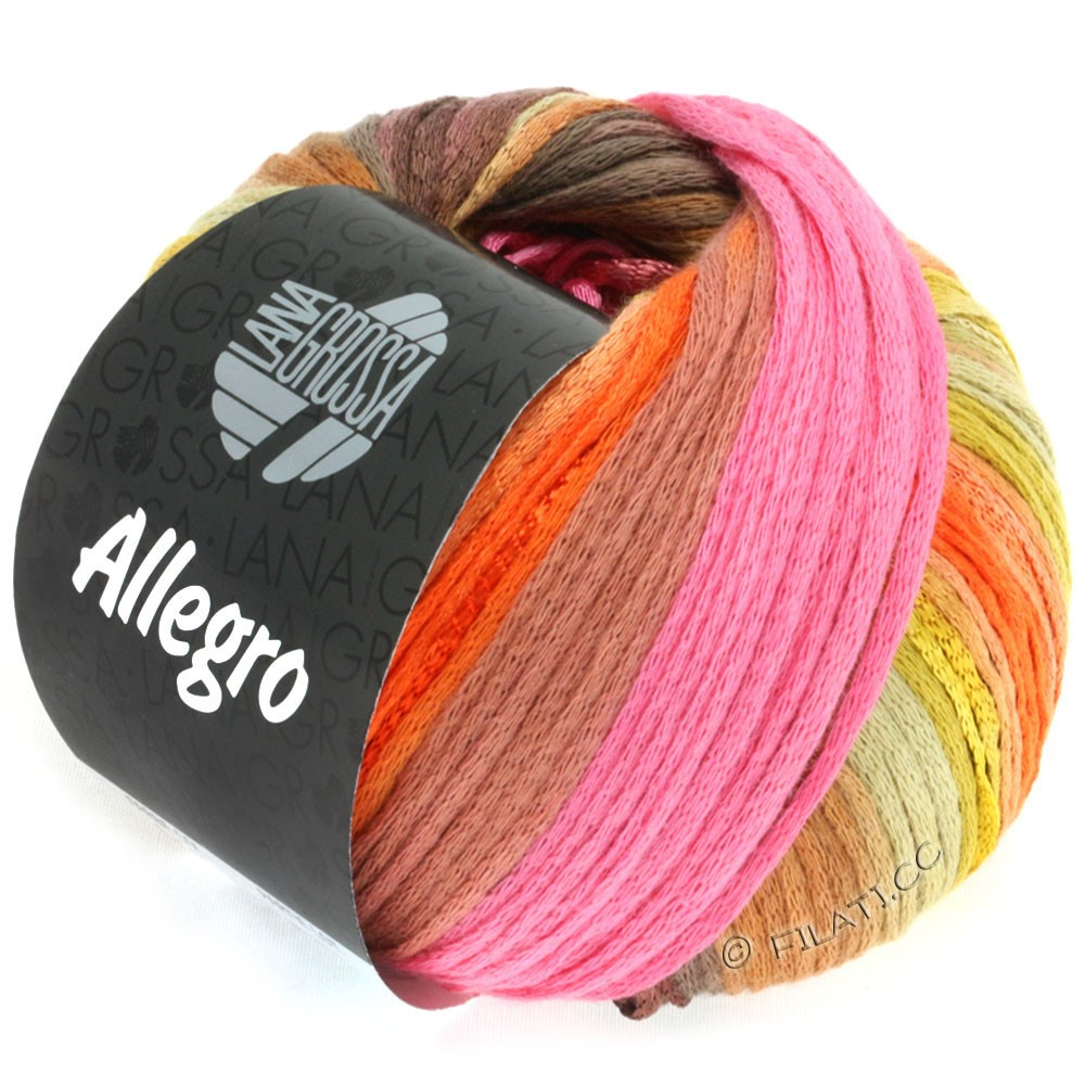 ALLEGRO - von Lana Grossa | 018-Pink/Orange/Zimt/Terracotta/Hellkhaki
