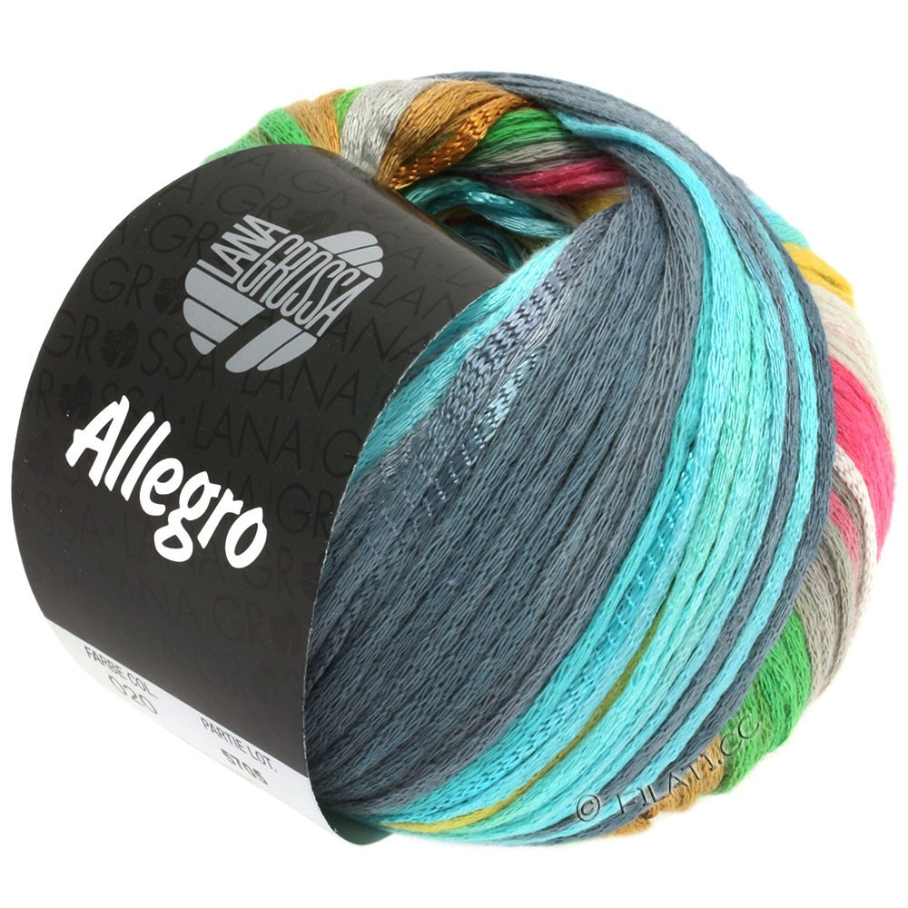 ALLEGRO - von Lana Grossa | 020-Silbergrau/Hellgelb/Rosa/Hellgrün/Blaugrau