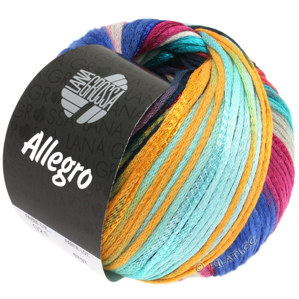 ALLEGRO - von Lana Grossa | 021-Helltürkis/Blau/Petrol/Mandarin/Tonrot