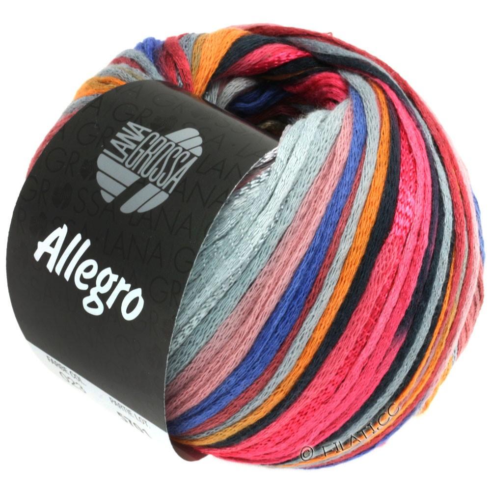 ALLEGRO - von Lana Grossa | 023-Himbeer/Orange/Silbergrau/Stahlblau
