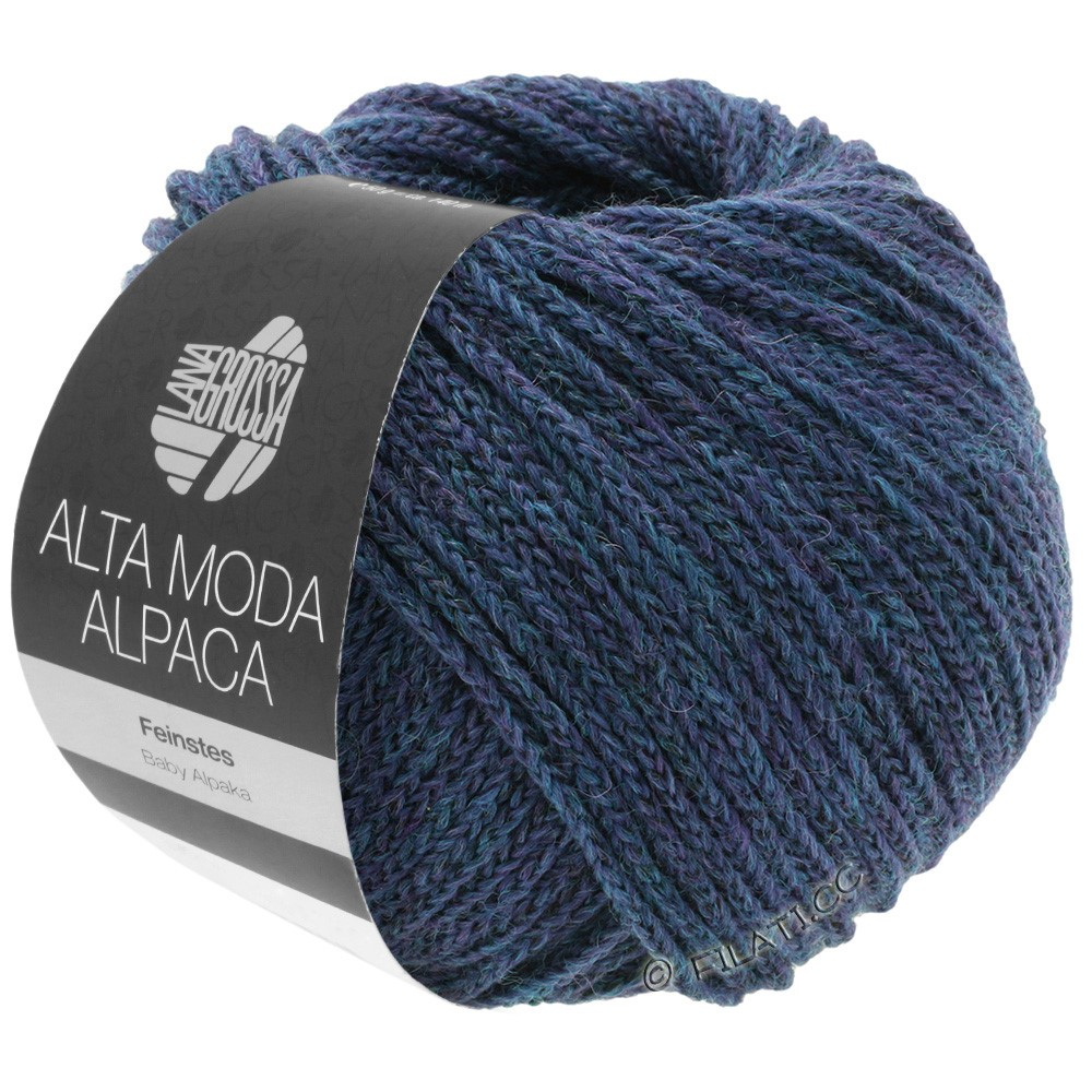ALTA MODA ALPACA - von Lana Grossa | 36-Petrol/Royal meliert