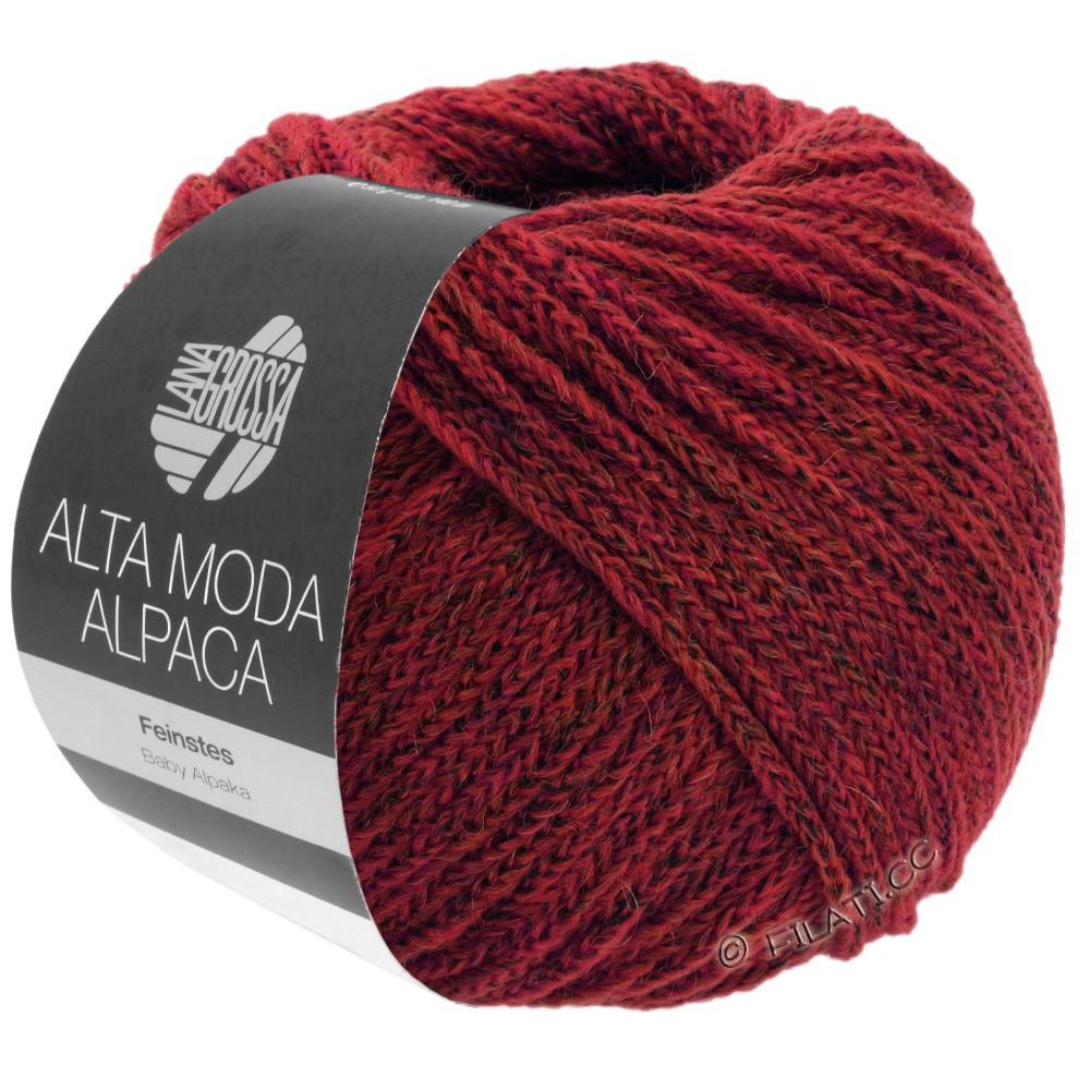 ALTA MODA ALPACA - von Lana Grossa | 40-Dunkelrot meliert
