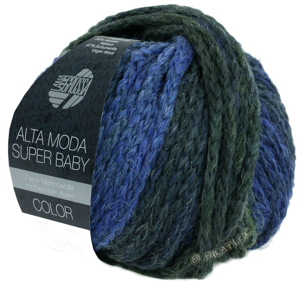 ALTA MODA SUPER BABY  Color - von Lana Grossa | 303-Hellblau/Blau/Blaugrau