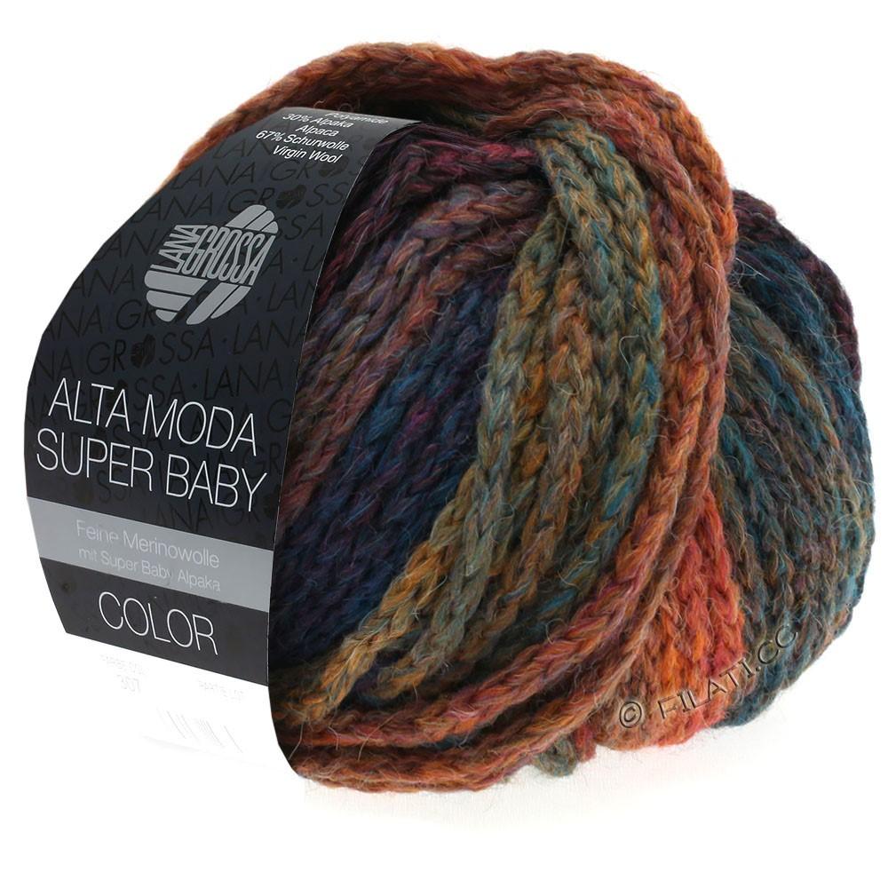 ALTA MODA SUPER BABY  Color - von Lana Grossa | 304-Kupfer/Senf/Petrol/Dunkelblau/Violett