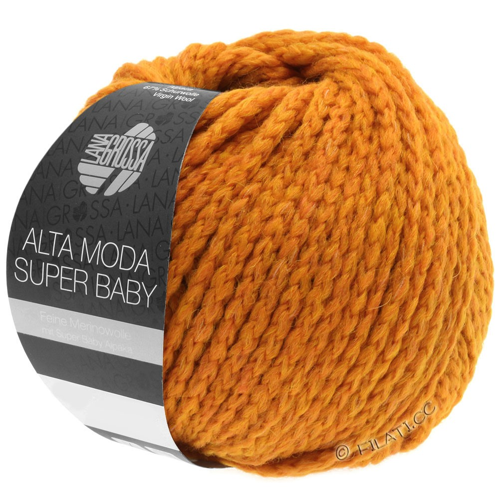 ALTA MODA SUPER BABY  Uni - von Lana Grossa | 042-Orange