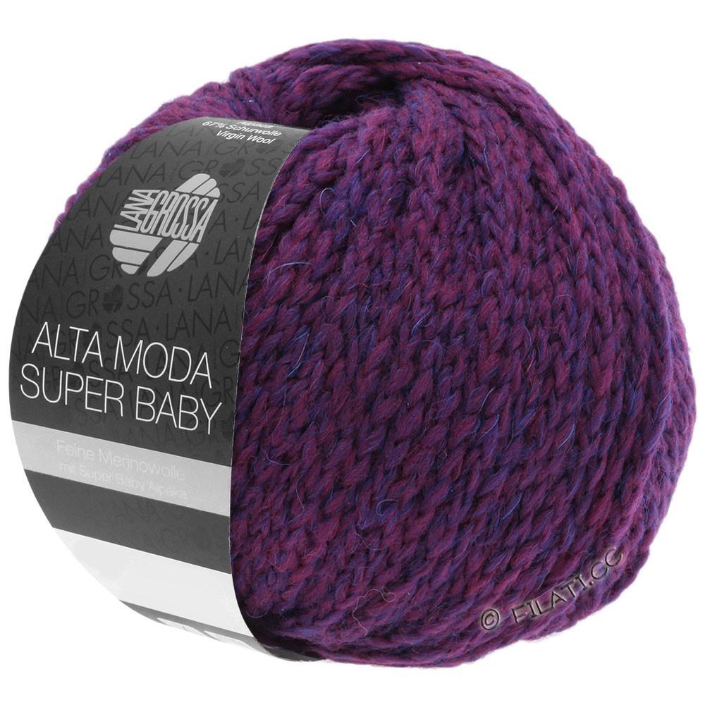 ALTA MODA SUPER BABY  Uni - von Lana Grossa | 52-Rotviolett meliert