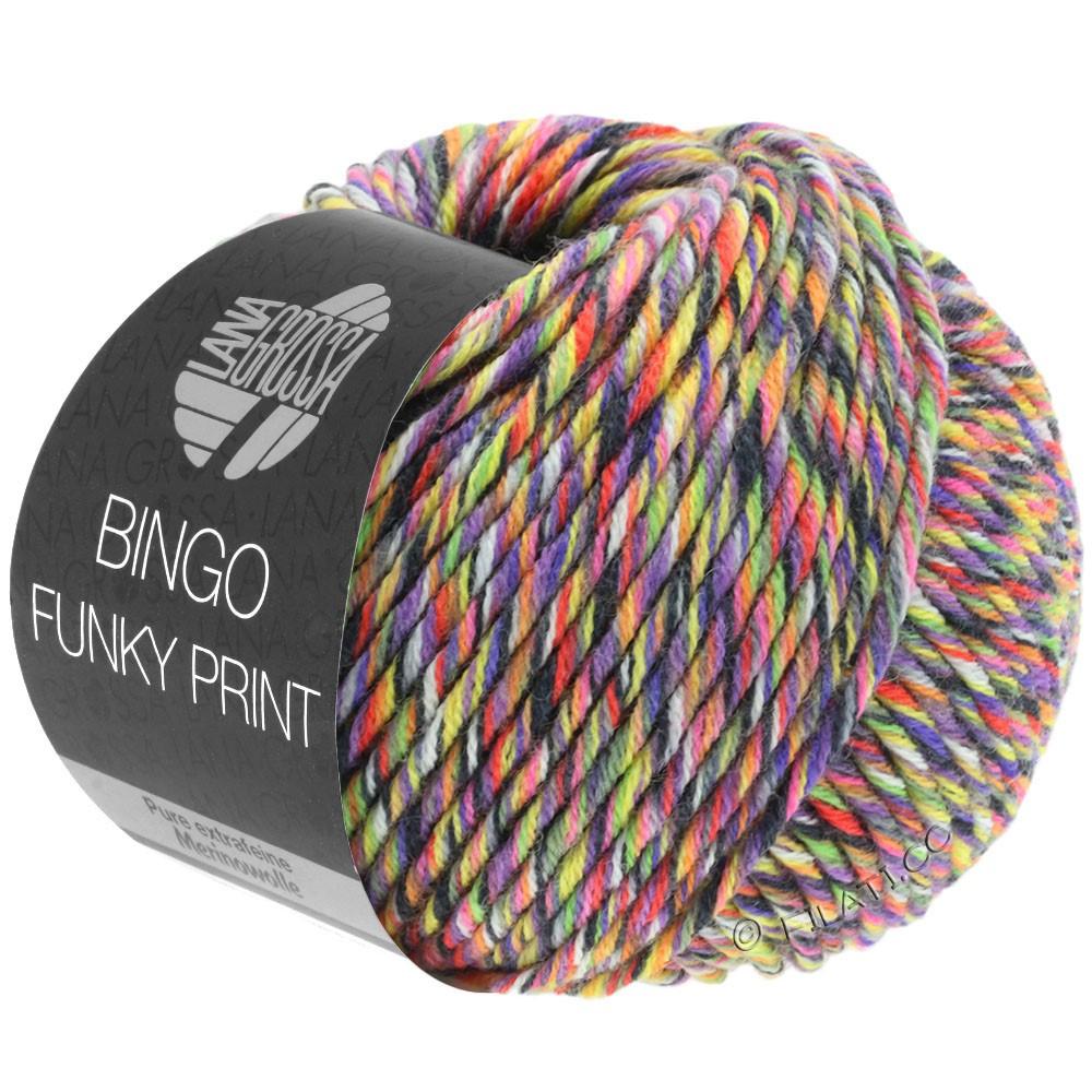 BINGO Funky Print - von Lana Grossa   402-Pflaume/Gelb/Pink bunt