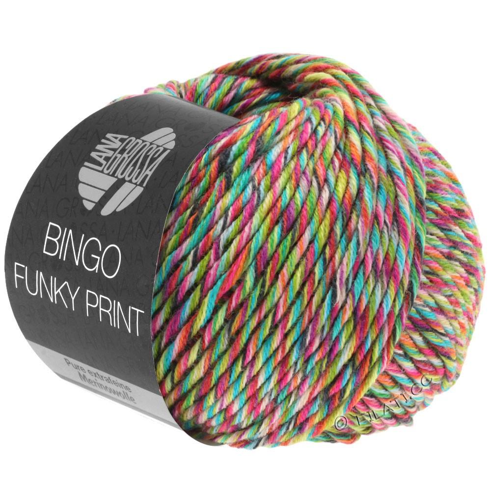 BINGO Funky Print - von Lana Grossa   404-Gelbgrün/Türkis/Fuchsia bunt
