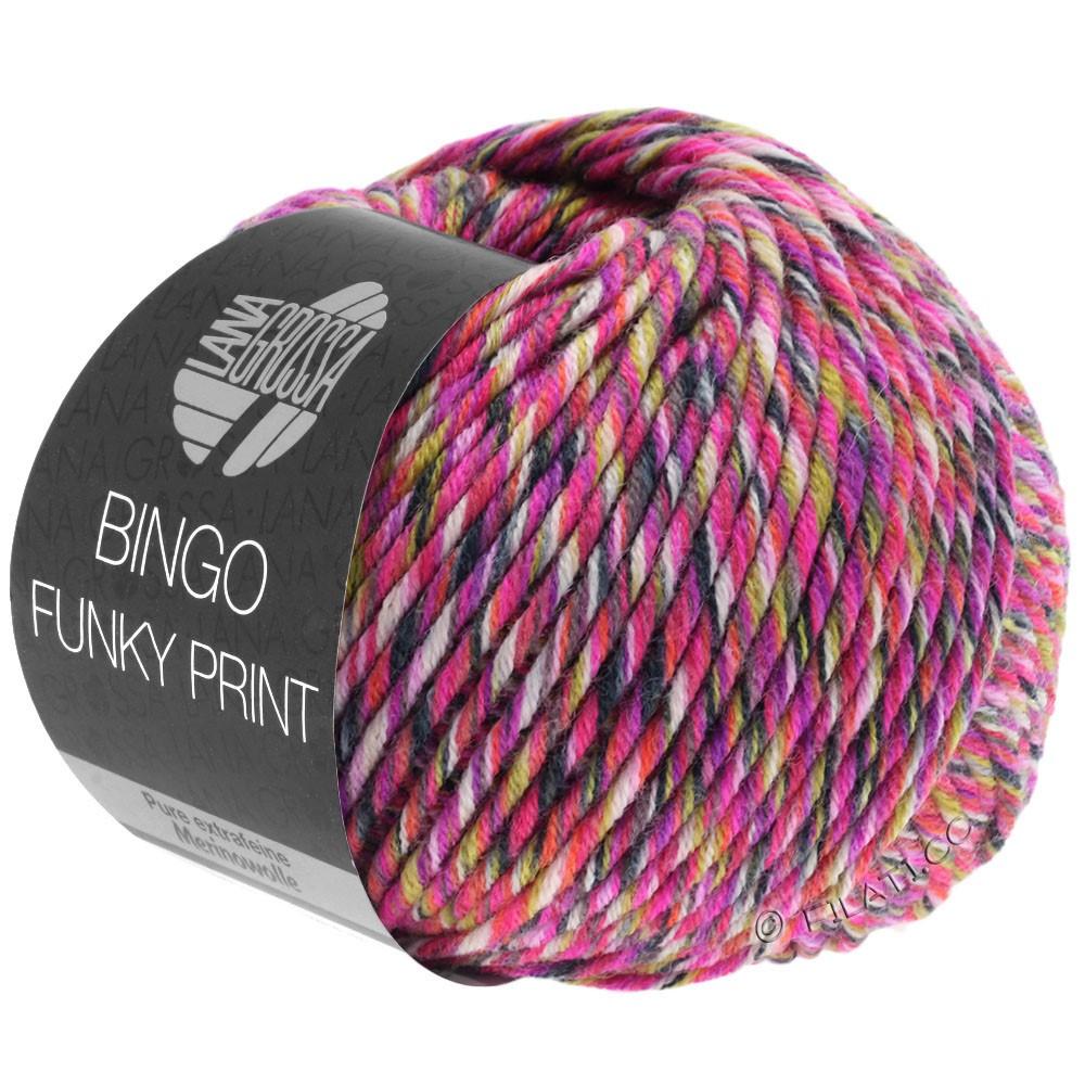 BINGO Funky Print - von Lana Grossa | 405-Fuchsia/Rosa/Gelbgrün bunt