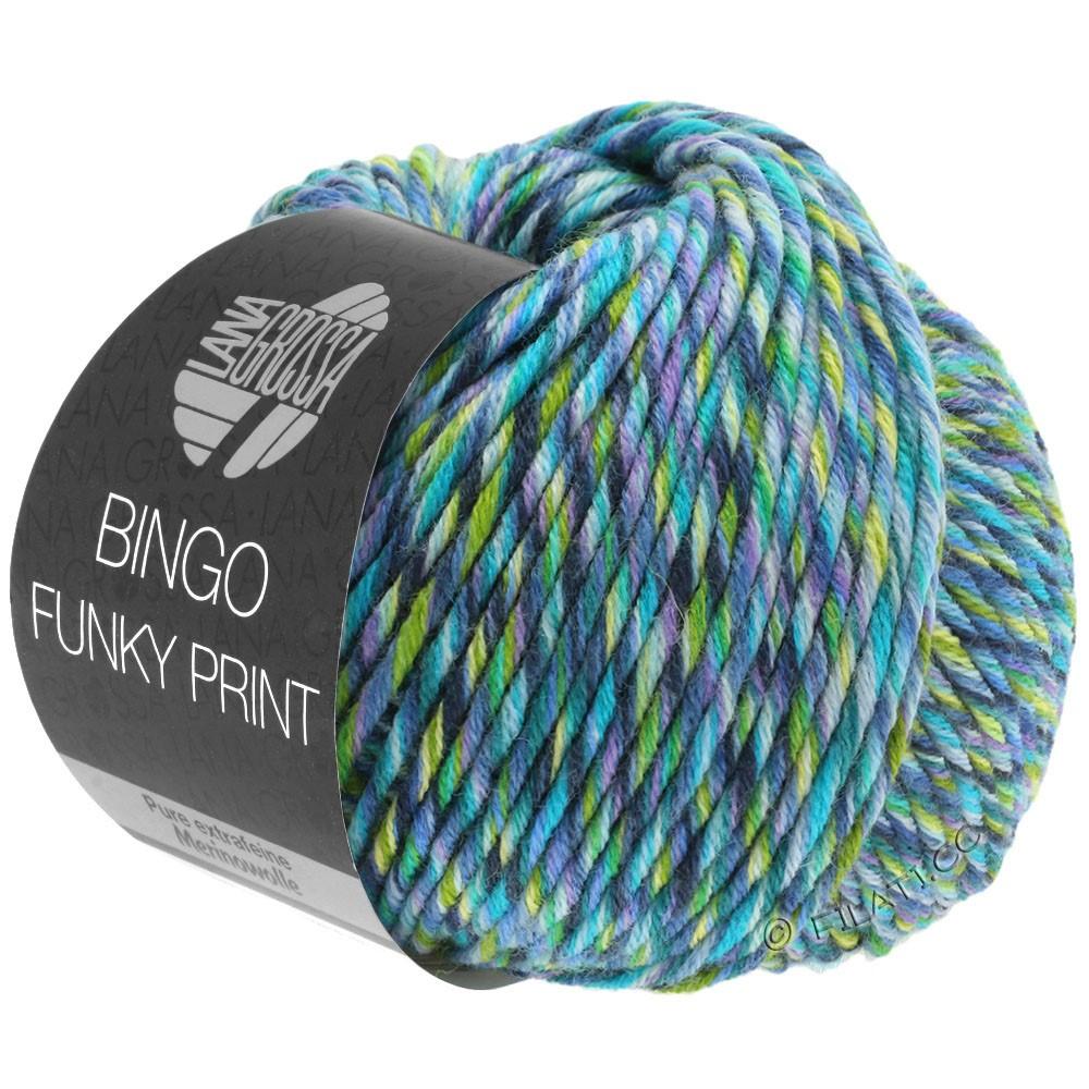 BINGO Funky Print - von Lana Grossa   407-Blau/Petrol/Lila/Grün bunt
