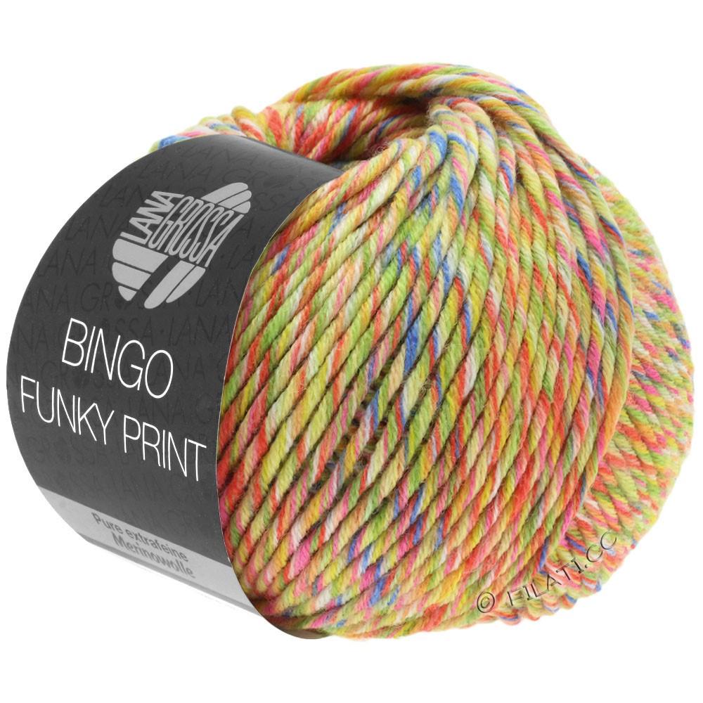 BINGO Funky Print - von Lana Grossa | 408-Gelb/Orange/Pink/Royal bunt