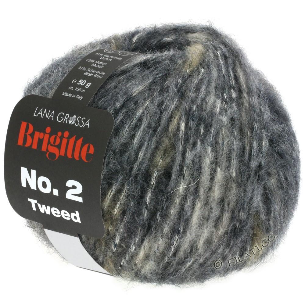 BRIGITTE NO. 2 Tweed - von Lana Grossa | 102-Hellgrau/Grau/Anthrazit