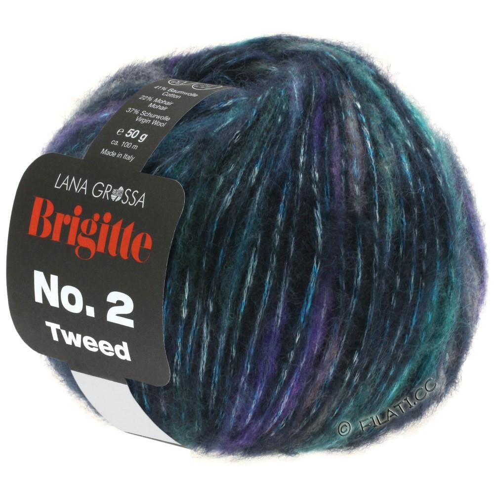 BRIGITTE NO. 2 Tweed - von Lana Grossa | 105-Marine/Violett/Jeans