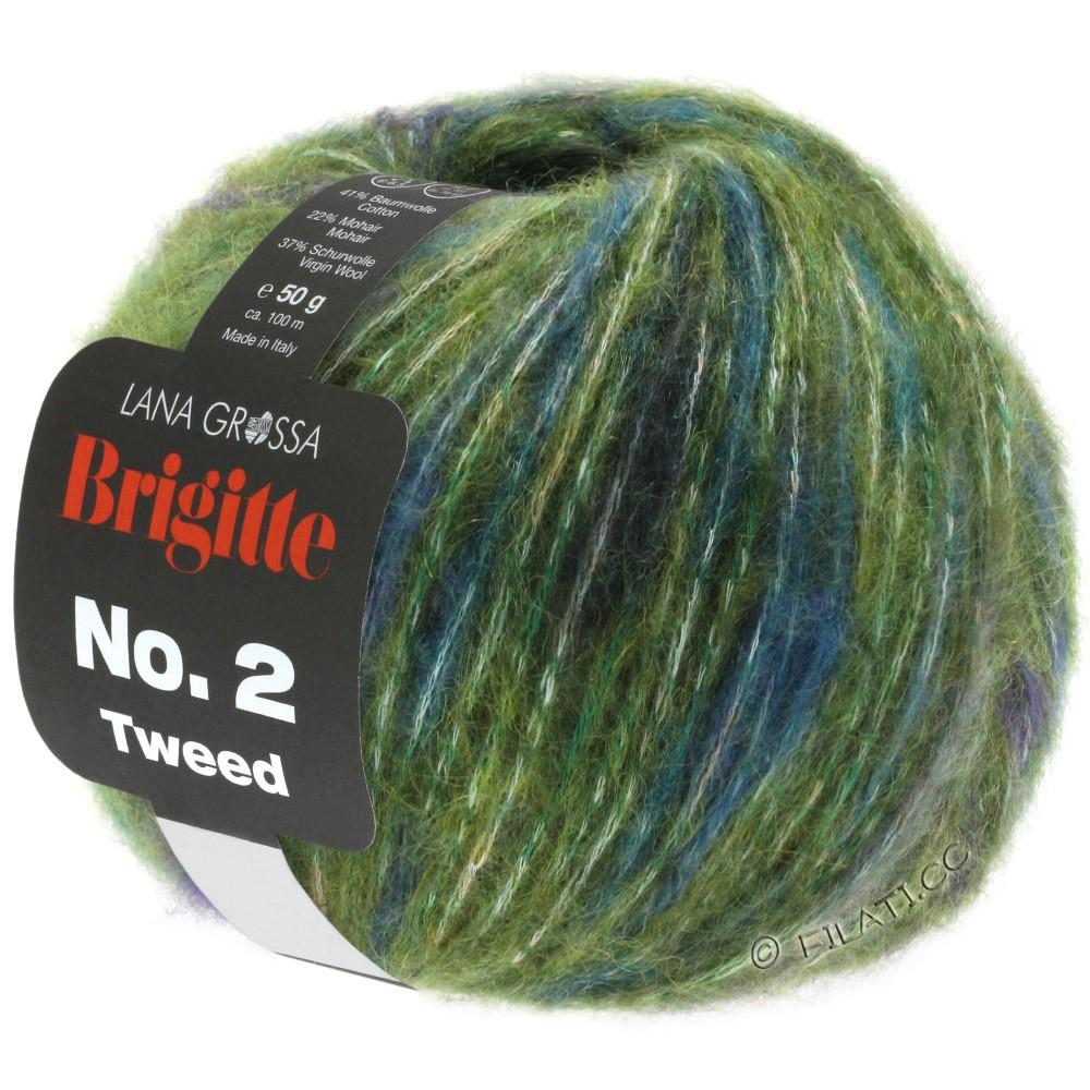 BRIGITTE NO. 2 Tweed - von Lana Grossa | 107-Oliv/Violett/Petrol