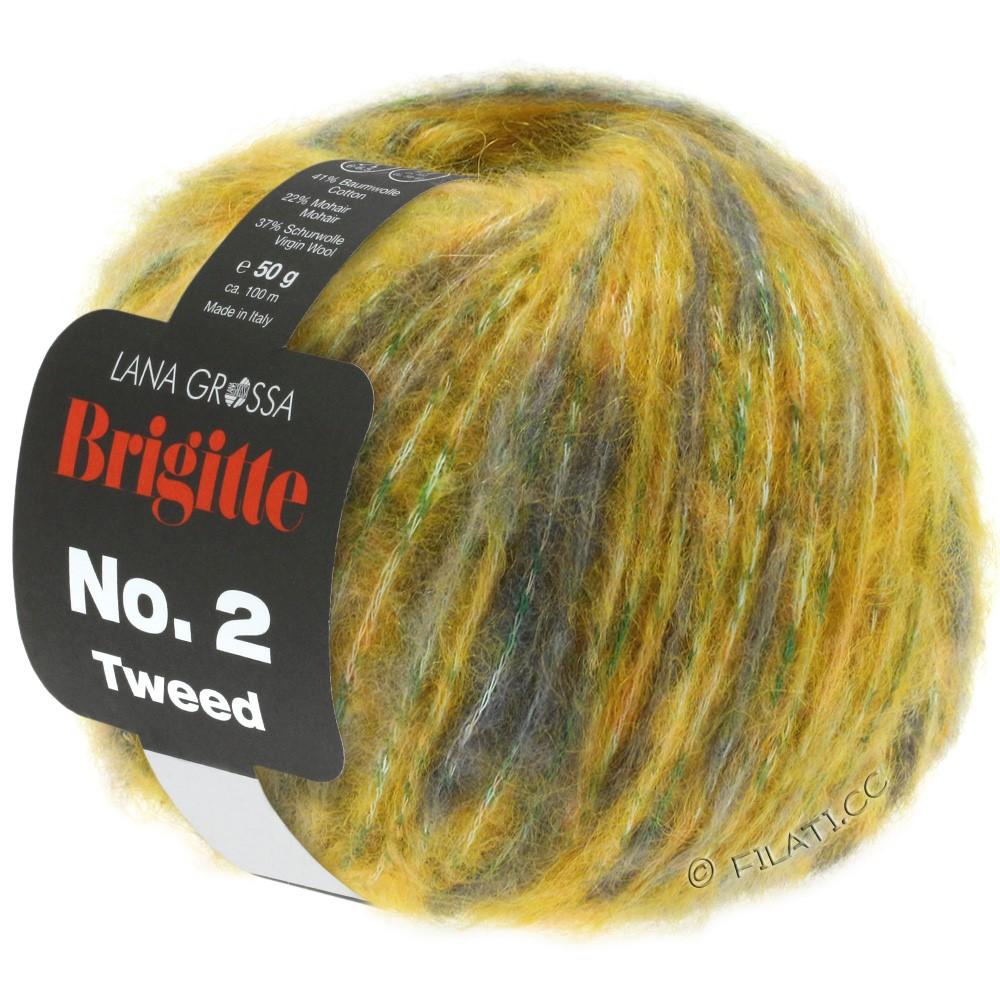 BRIGITTE NO. 2 Tweed - von Lana Grossa | 108-Goldgelb/Grün/Hellbeige