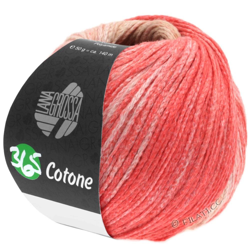 365 COTONE Degradé - von Lana Grossa | 101-Beige/Camel/Lachsrosa/Rot
