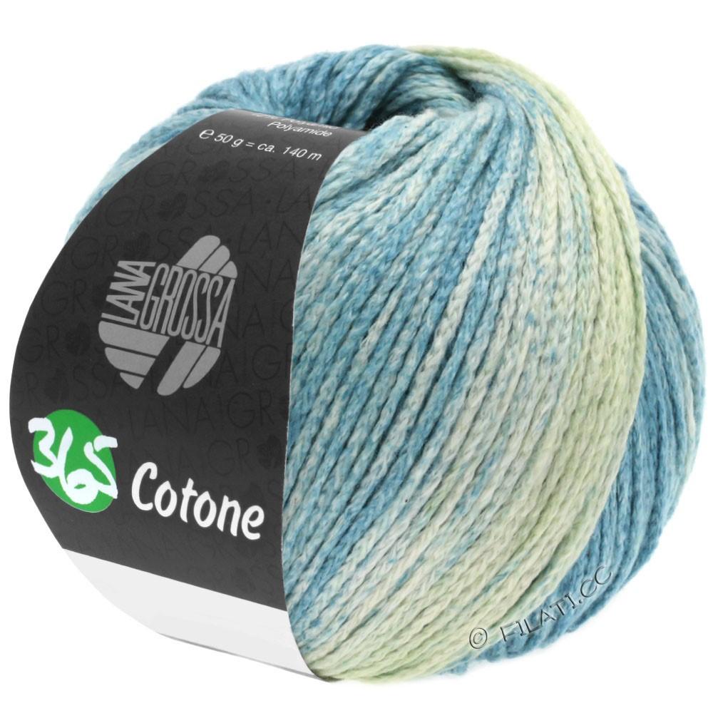 365 COTONE Degradé - von Lana Grossa | 103-Zartgrün/Graugrün/Hellpetrol/Dunkelpetrol