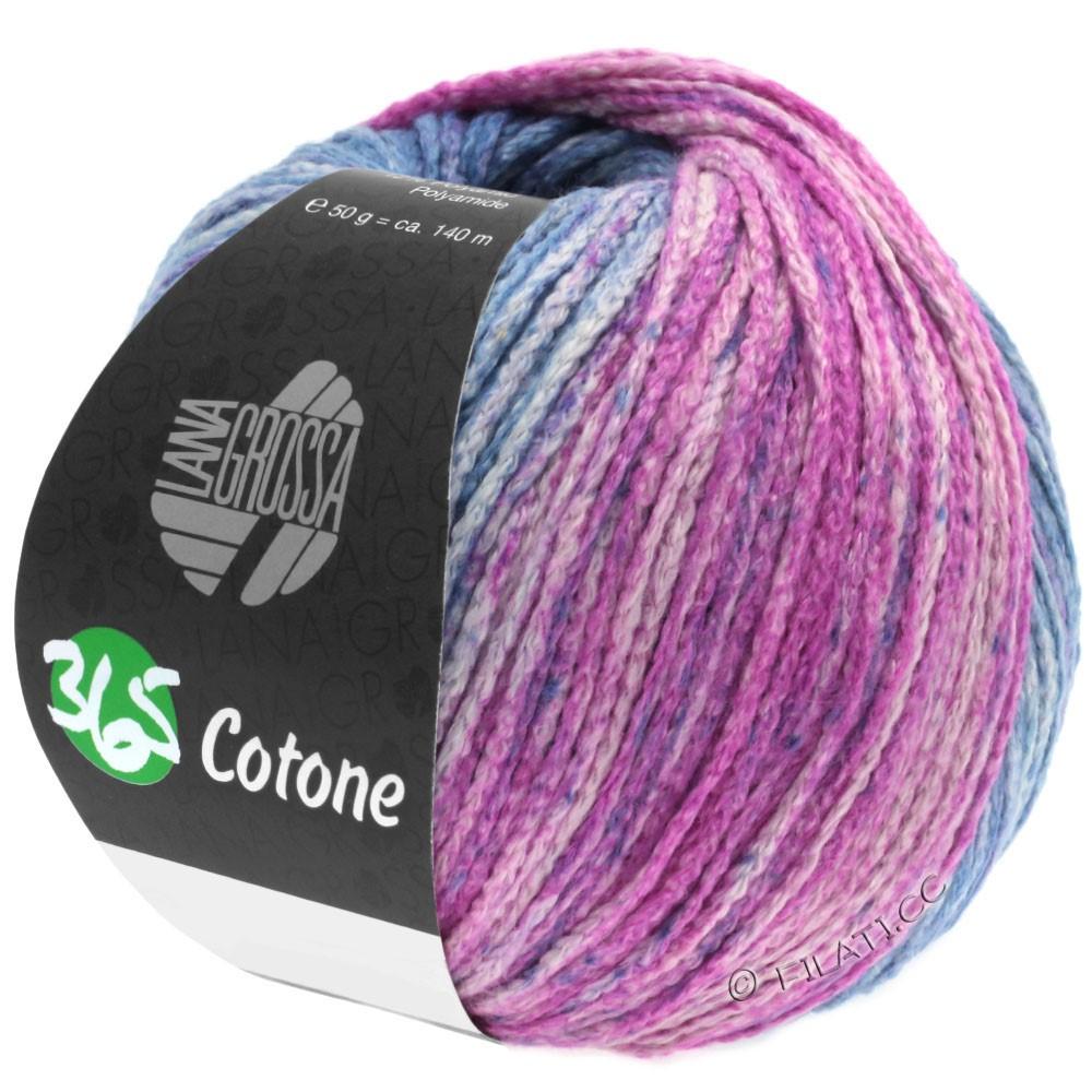 365 COTONE Degradé - von Lana Grossa | 105-Graublau/Jeans/Fuchsia/Rotviolett