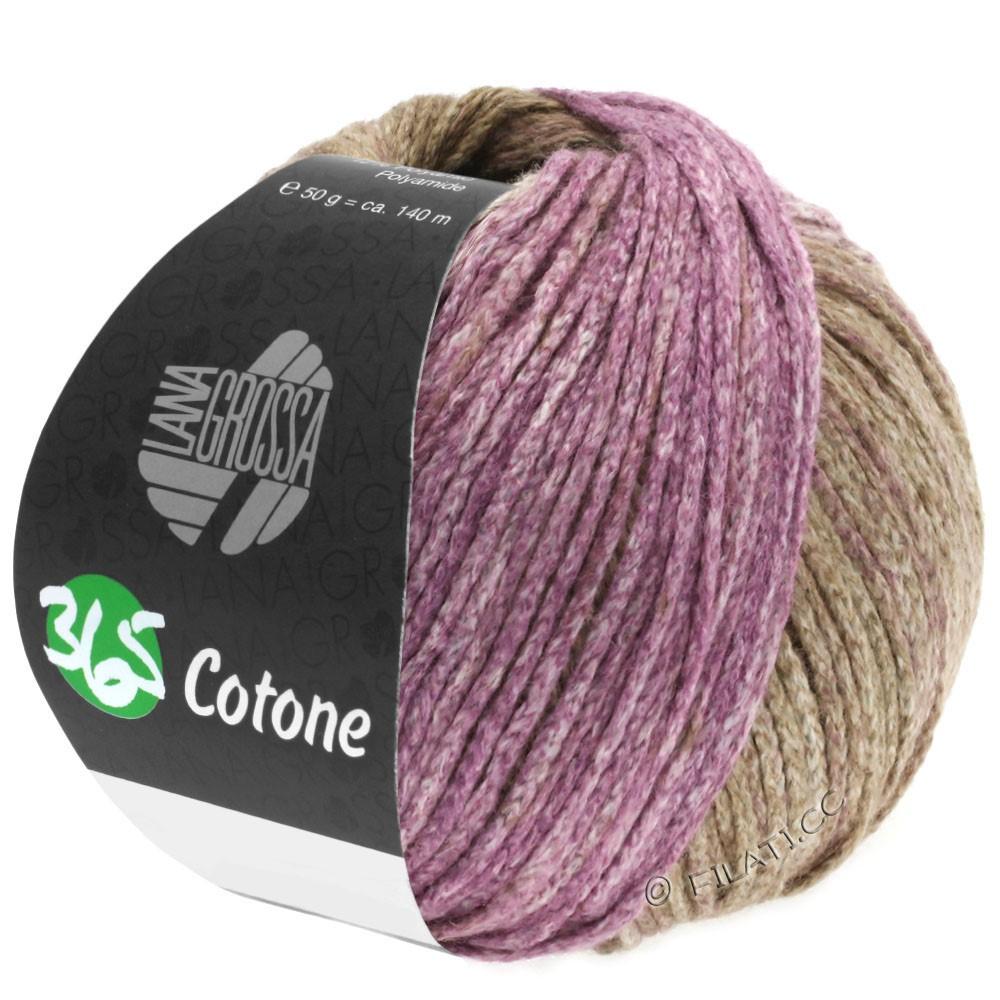 365 COTONE Degradé - von Lana Grossa | 109-Beige/Braun/Rotviolett