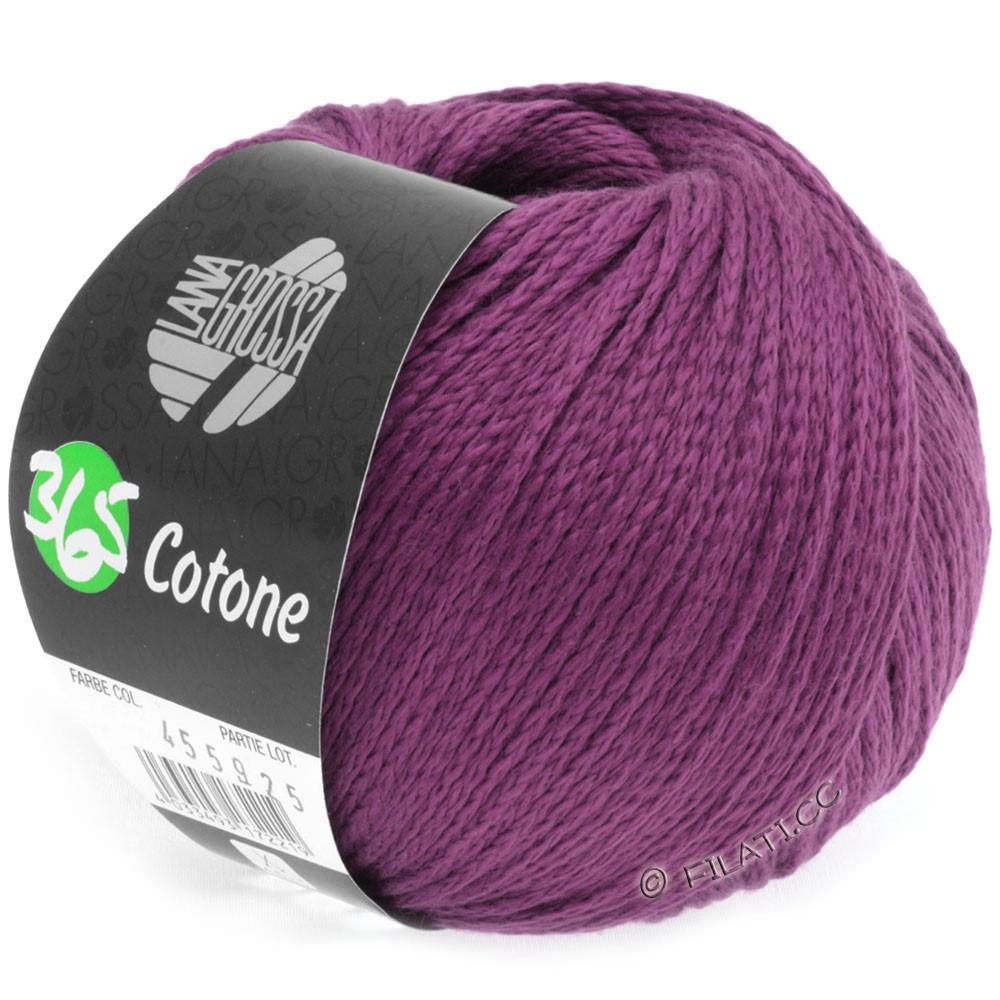 365 COTONE - von Lana Grossa | 12-Rotviolett