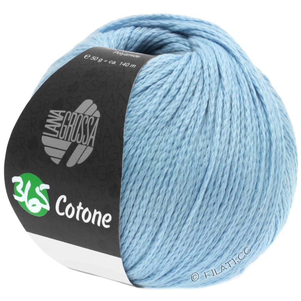 365 COTONE - von Lana Grossa | 36-Hellblau