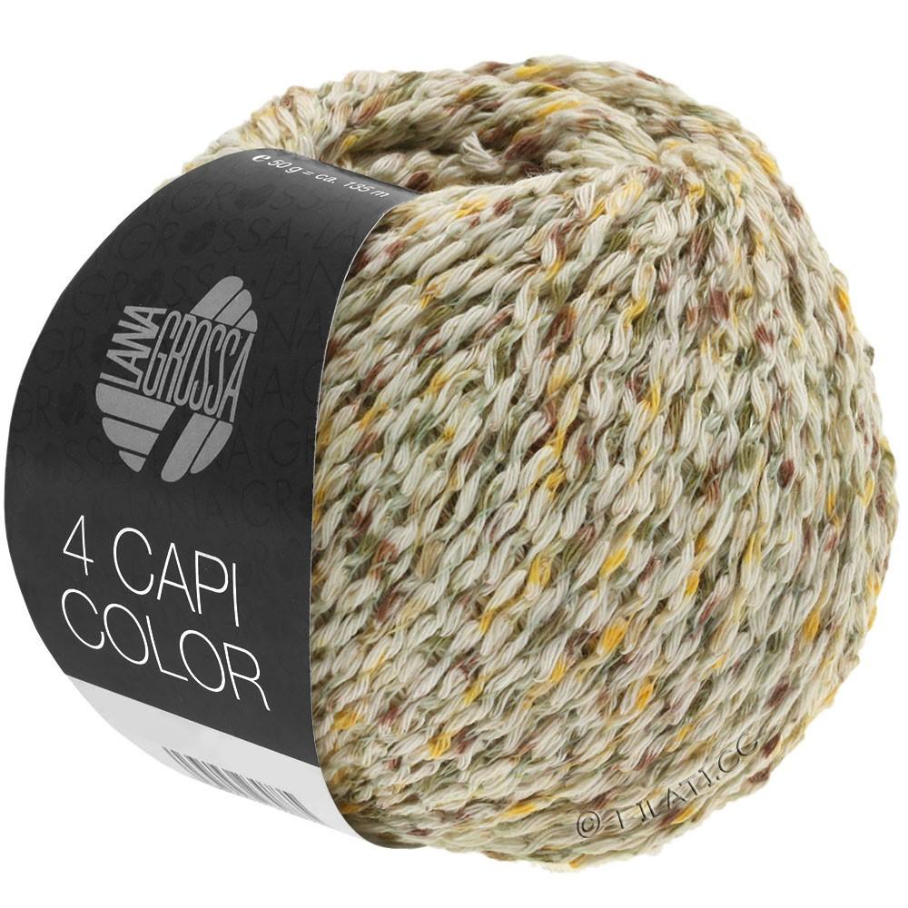 4 CAPI Color - von Lana Grossa   102-Natur/Gelb/Khaki/Braun