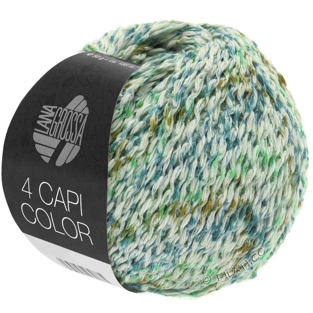 4 CAPI Color - von Lana Grossa   104-Natur/Jadegrün/Türkis/Oliv
