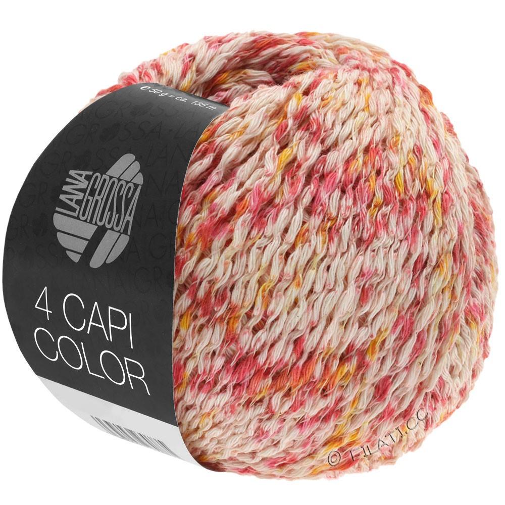 4 CAPI Color - von Lana Grossa   105-Natur/Rot/Sonnengelb/Pink