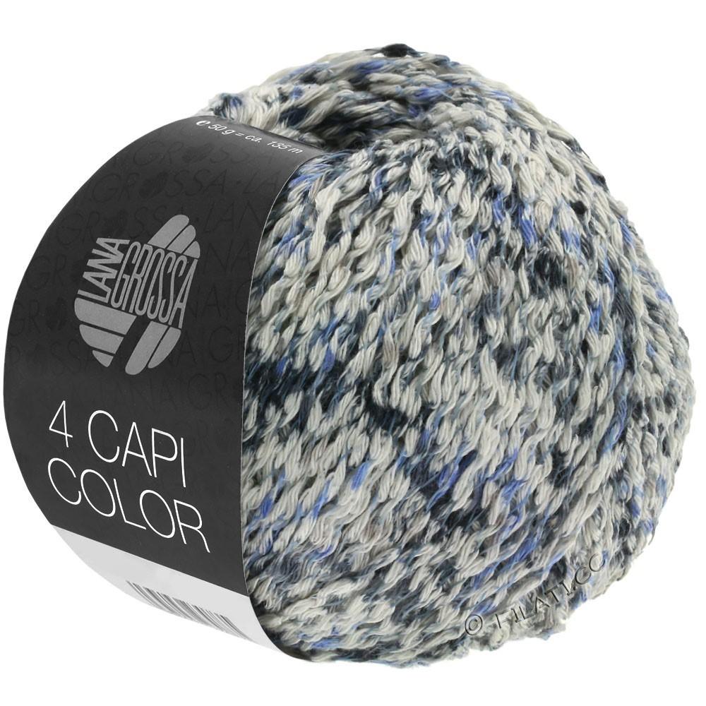 4 CAPI Color - von Lana Grossa   107-Natur/Jeans/Dunkelblau/Grau