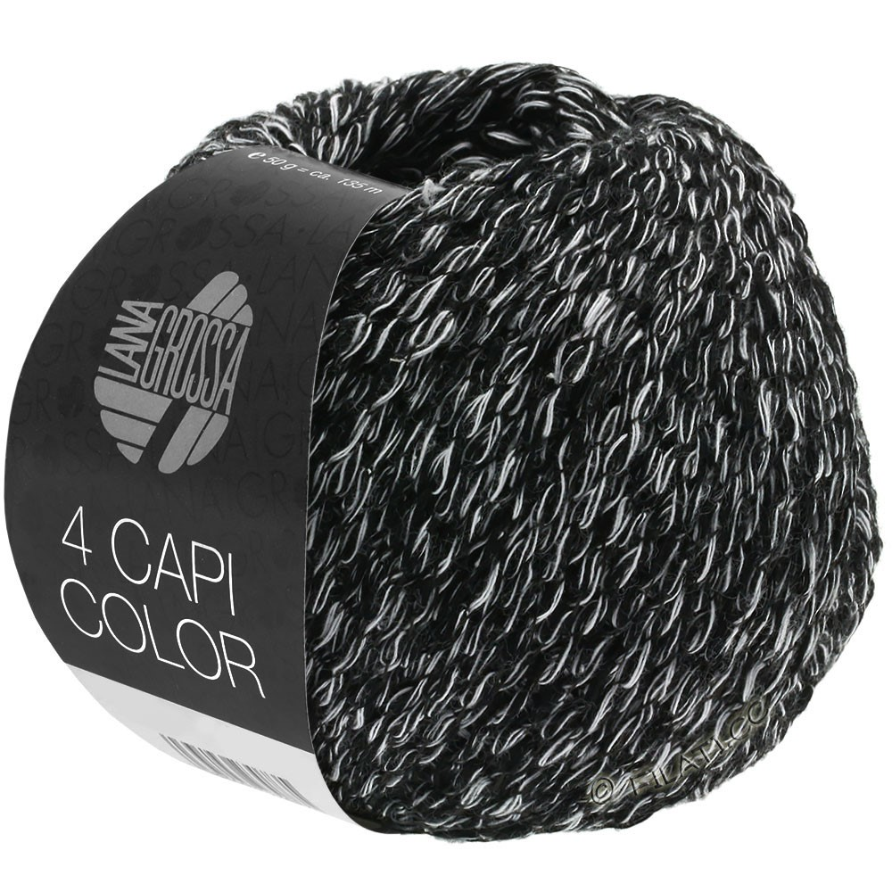 4 CAPI Color - von Lana Grossa   108-Schwarz/Weiß