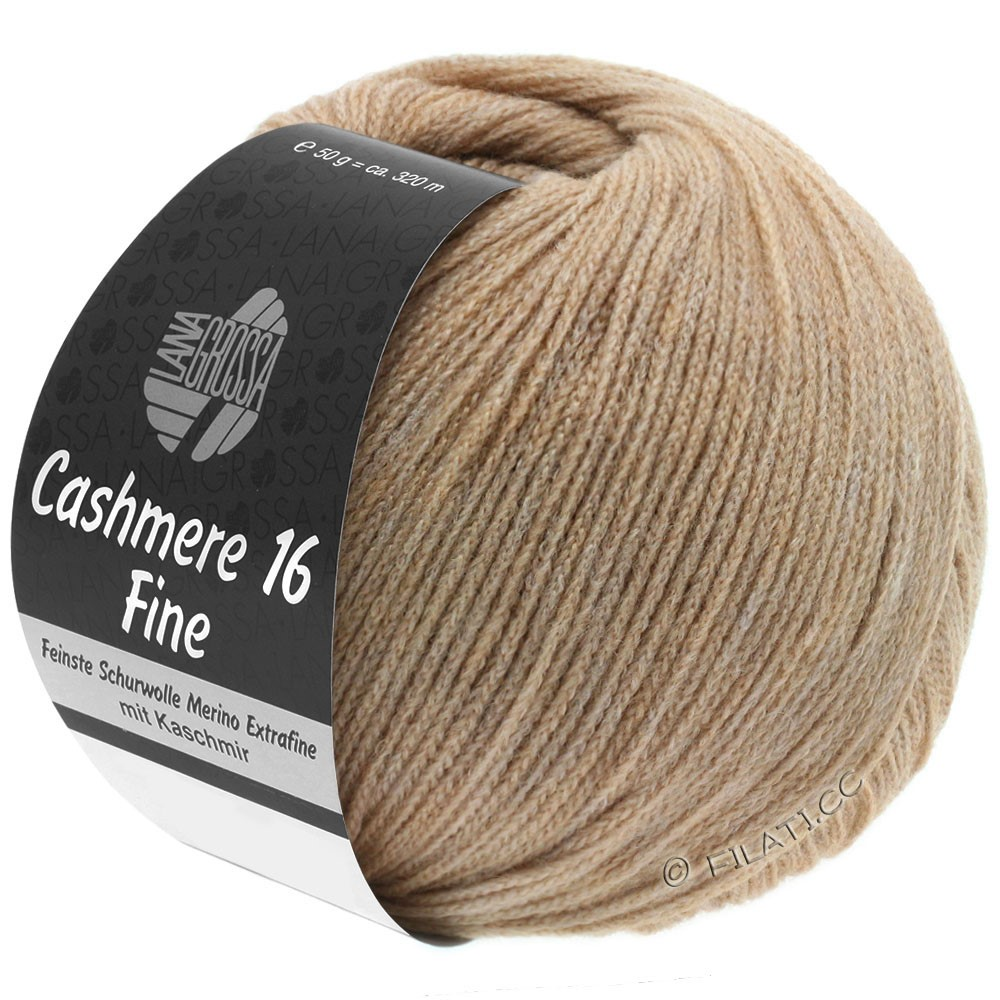 CASHMERE 16 FINE Uni/Degradé - von Lana Grossa | 006-Sand
