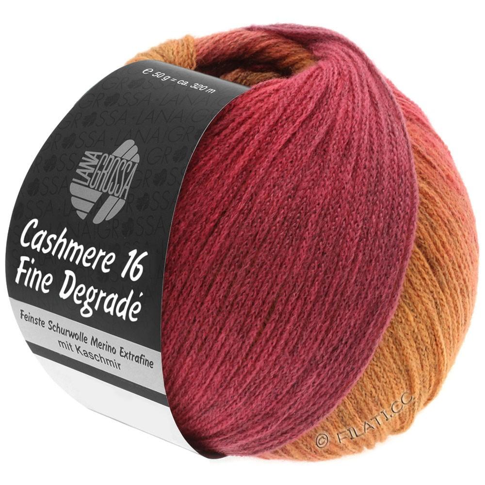 CASHMERE 16 FINE Uni/Degradé - von Lana Grossa | 109-Orange/Pink/Himbeer/Altrosa