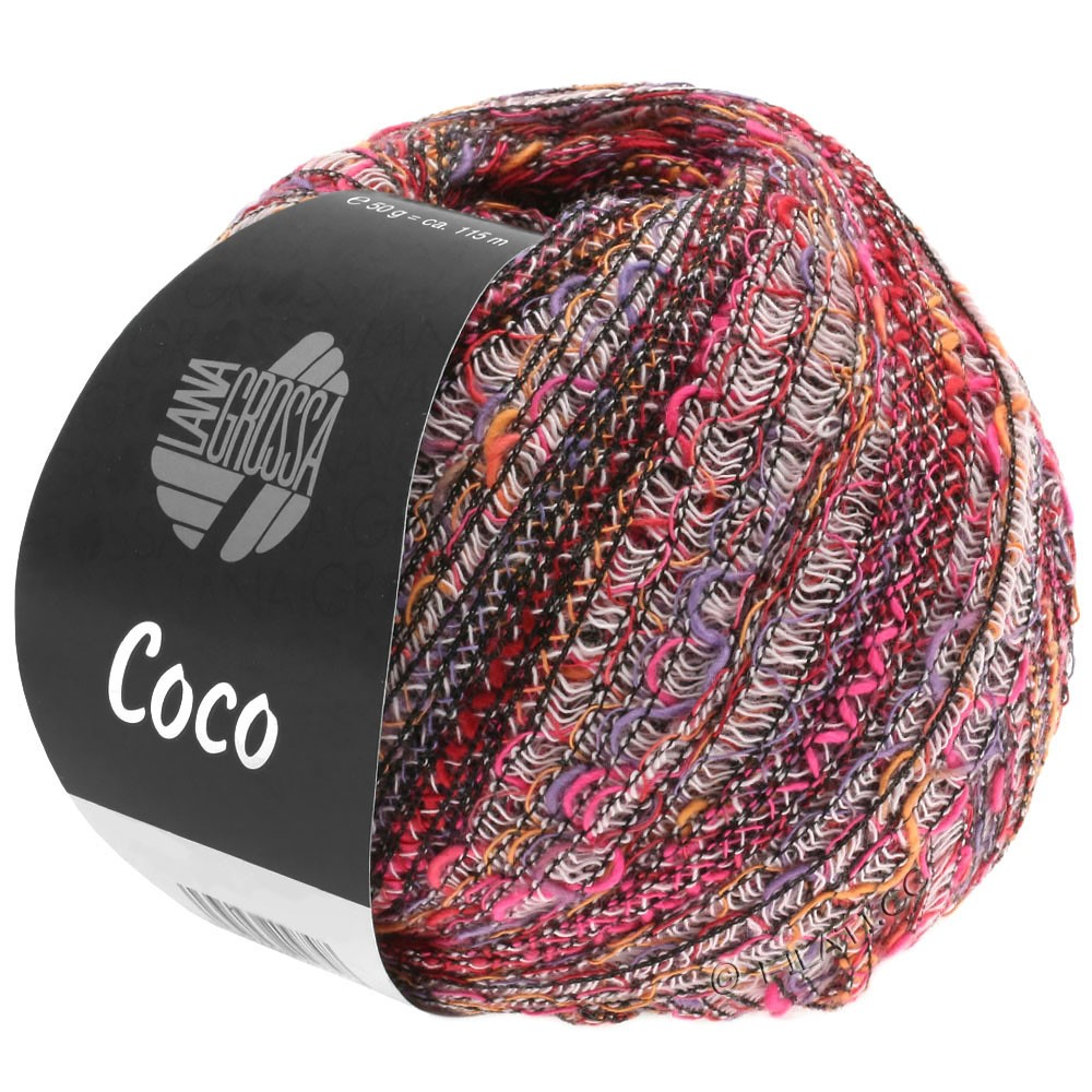 COCO - von Lana Grossa | 01-Weiß/Orange/Pink