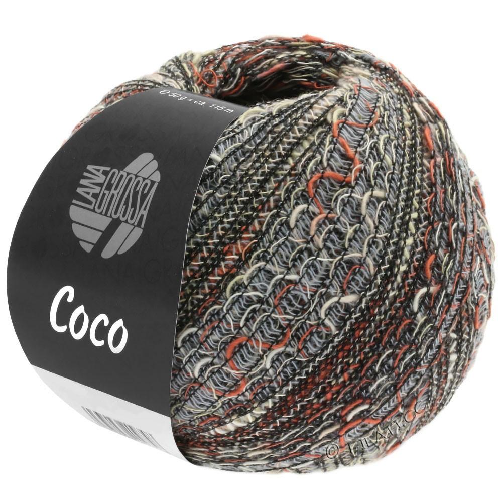 COCO - von Lana Grossa | 06-Hellgrau/Natur/Terracotta