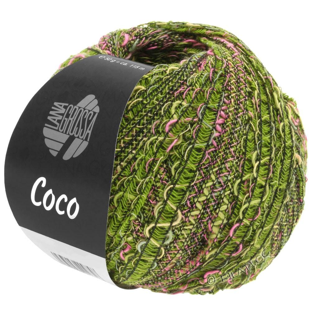 COCO - von Lana Grossa | 16-Oliv/Pink/Dunkelgrün