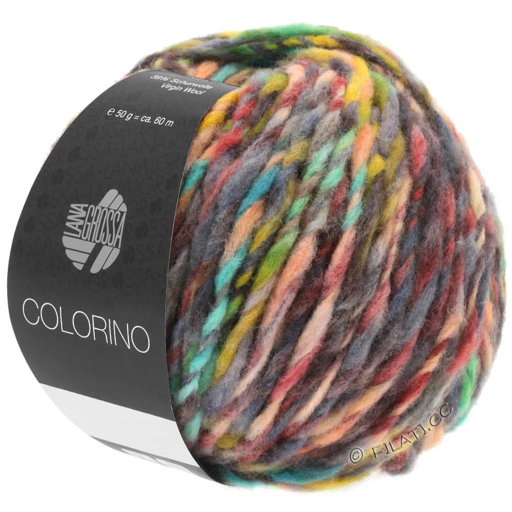 COLORINO - von Lana Grossa | 01-Rot/Grün/Grau/Beige/Anthrazit