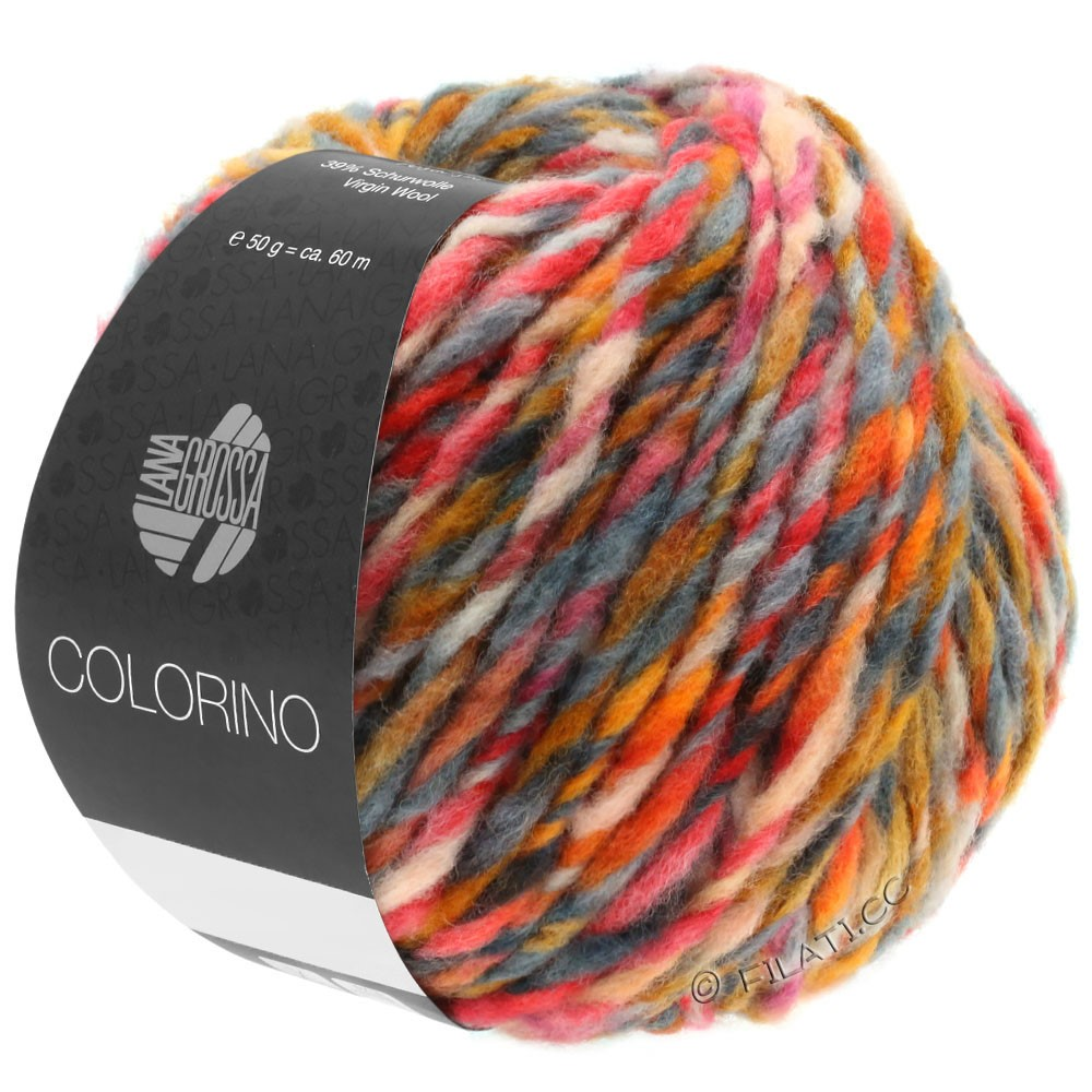 COLORINO - von Lana Grossa | 06-Orange/Camel/Dunkelbraun/Grau