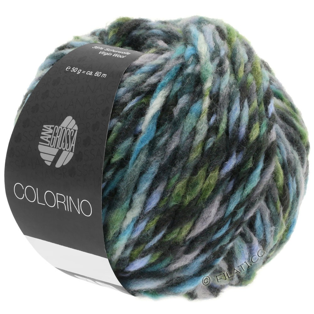 COLORINO - von Lana Grossa | 10-Grau/Anthrazit/Hellblau/Graugrün