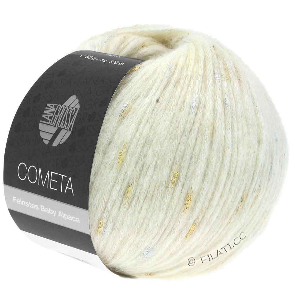 COMETA - von Lana Grossa | 01-Rohweiß/Gold/Silber