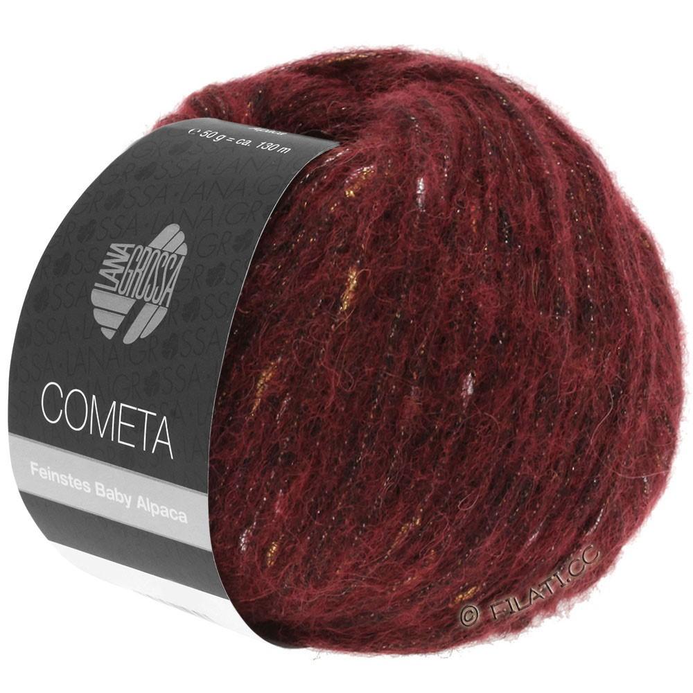 COMETA - von Lana Grossa | 05-Dunkelrot/Gold/Silber