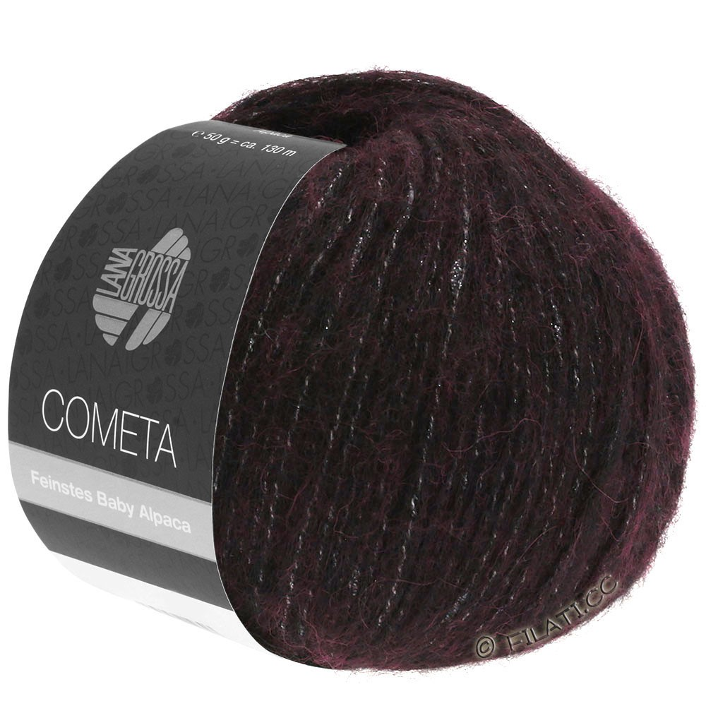 COMETA - von Lana Grossa | 06-Schwarzrot/Silber